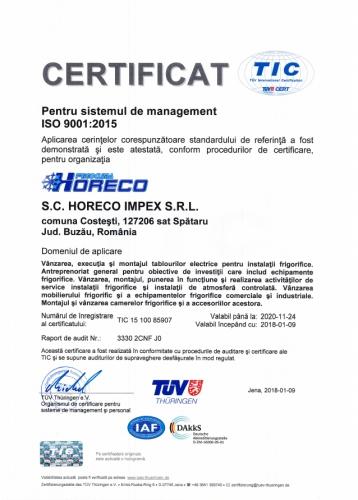 ISO9001 HORECO